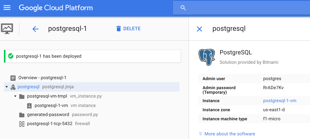 Cloud Launcher PostgreSQL